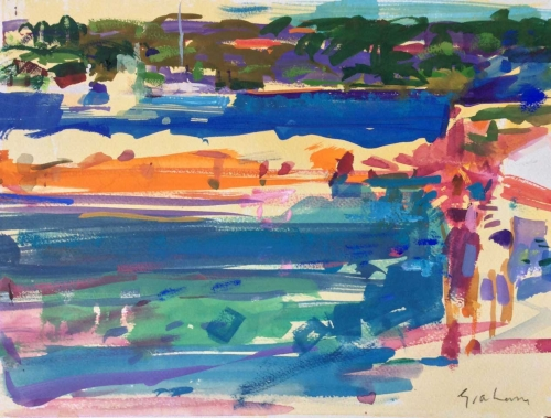 """St Tropez"" Watercolour on Paper by Peter Graham"