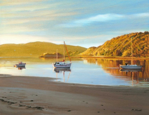 """Morar, Evening Calm"" Oil painting by Margaret Heath"