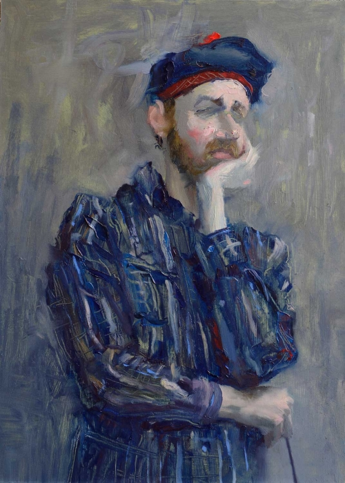 """Contemplation"" Oil Painting by Andrew Hitchcock"