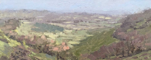 'View from South Downs Way, Near Sullington, End of Year' oil painting by Benjamin Hope