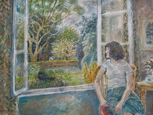 """The Open Window"" Watercolour painting by June Berry"