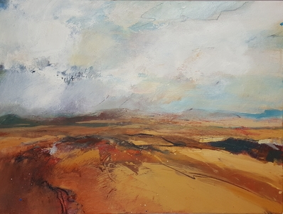 'High Moor' oil painting by Andrew Kinmont