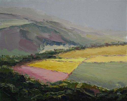 """Peak Fields"" Oil on Canvas by Michael Jules Lang"