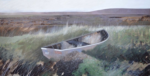 """Salthouse Wreck"" Egg Tempera by Andrew Lansley"