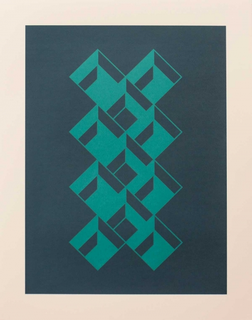 """Kypelsi Blue"" Screenprint by Eleanor Lines"