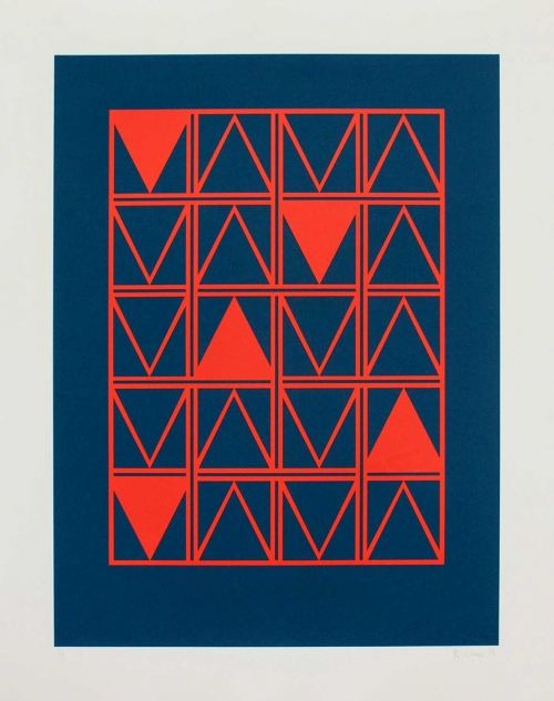 """Kypelsi Triangles"" Screenprint by Eleanor Lines"