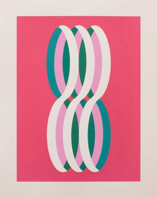 """Loop (White)"" Screenprint by Eleanor Lines"
