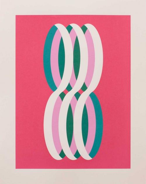 """""""Loop (White)"""" Screenprint by Eleanor Lines"""