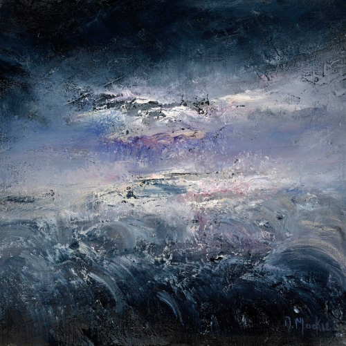 """Storm at Sea"" Oil on Canvas by Diana Mackie"