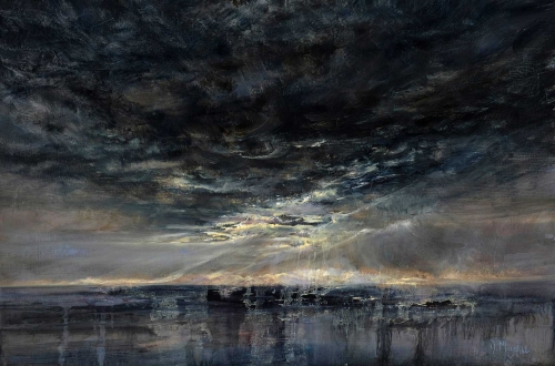 'Light on the Outer Hebrides' oil painting by Diana Mackie