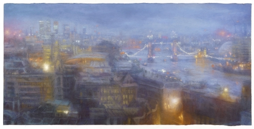 Matthew Draper PS, Evening Mist from The Monument