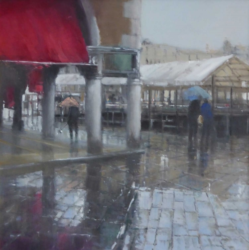 'Pescheria, Wet Sunday' oil painting by Brian Ryder