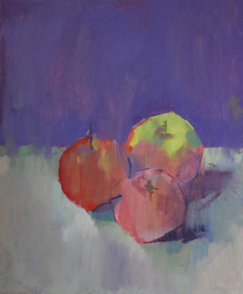 """Three Apples"" Oil on Canvas be Eve Pettitt"