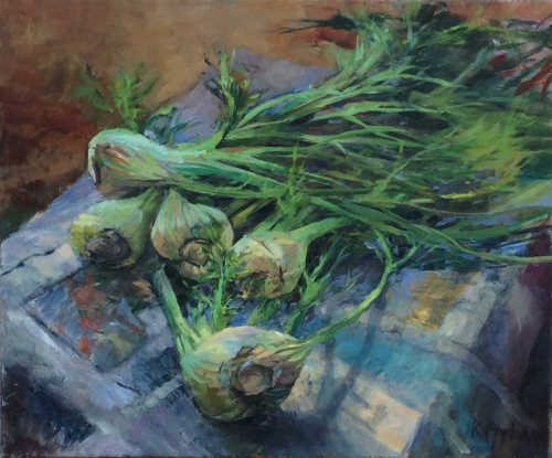 """Fennel"" Oil on Linen by Karen Popham"