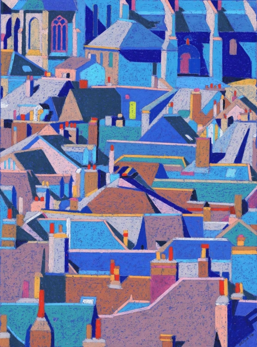 'Amboise Roofs' by Richard Rees PS