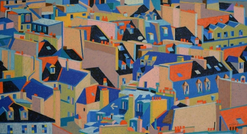 'Paris Roofs II' by Richard Rees PS