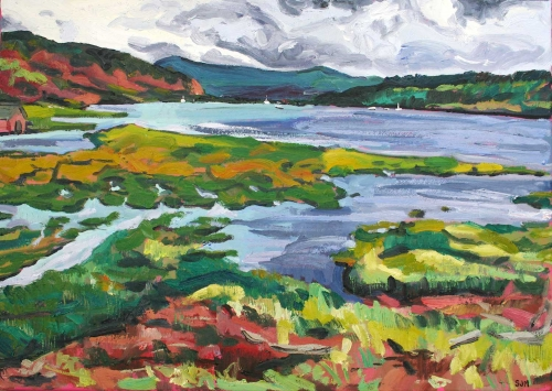 """""""The Approaching Storm (Ardtornish, Scotland)"""" Oil on Linen by Sarah Jane Moon"""