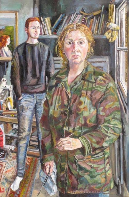 """Self Portrait in my Studio"" Oil on Canvas by Melissa Scott-Miller"