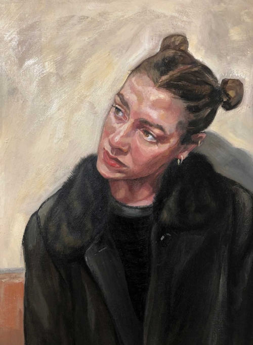 'Self Portrait' oil painting by Ania Hobson