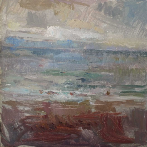 'Irish Sea' oil painting by Daniel Shadbolt
