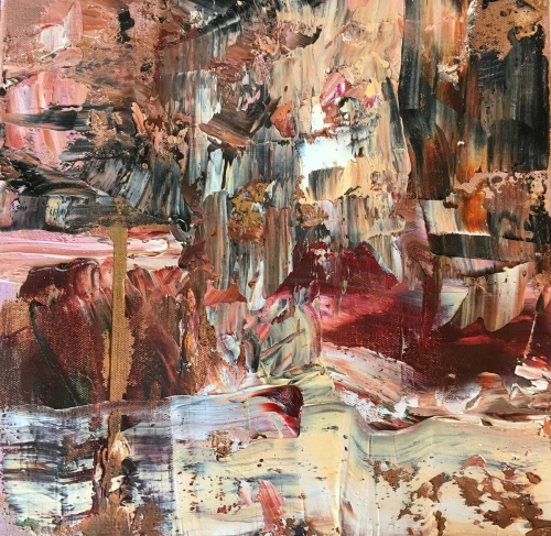 'Shifting Sands' abstract oil painting by Peggy Cozzi