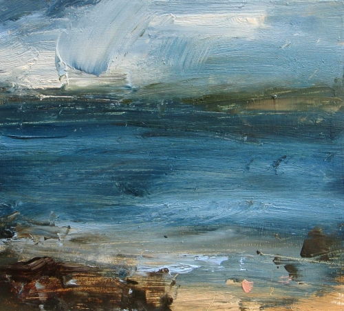 St Ives Coast Sea Blue by Louise Balaam NEAC
