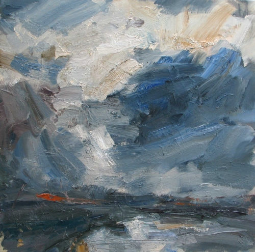 Storm Clouds Over the Horizon by Louise Balaam NEAC