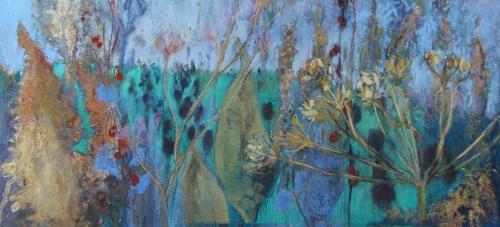 'Oro' pastel work by Judy Tate
