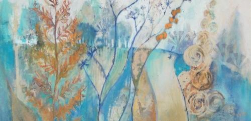 'Through the Verge' pastel work by Judy Tate