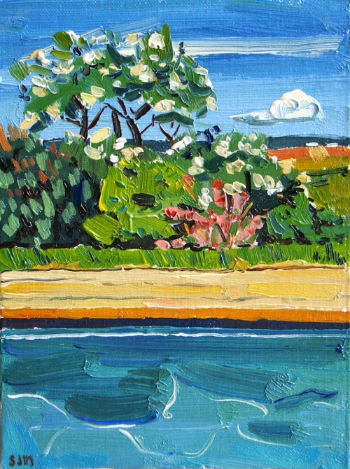 'The Pool at Cotegranges' oil painting by Sarah Jane Moon