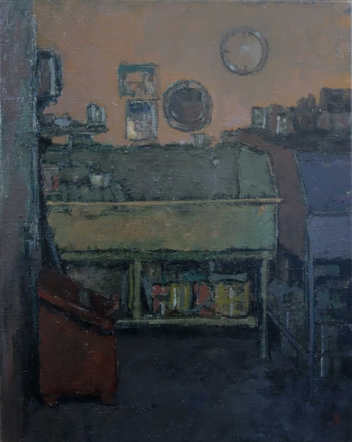 """Print Room"" Oil on Linen by Bernadett Timko"