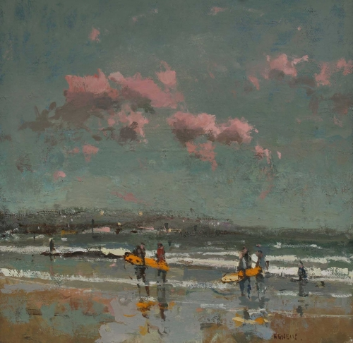"""Cornwall"" Oil on Panel by Robert E Wells"