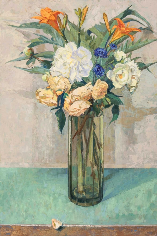 Peonies and Roses by Charlotte Sorapure NEAC