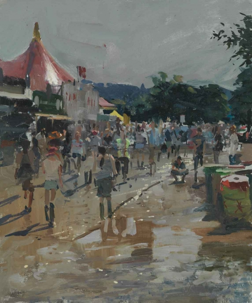 Sun on Glasto Mud 2016 by Peter Brown NEAC Buy Art