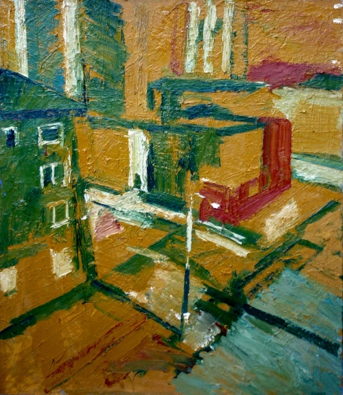 Inner city Deptford by Peter Clossick NEAC