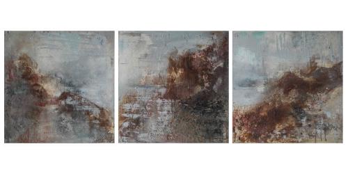 Coast Walk Triptych by Sally Wyatt