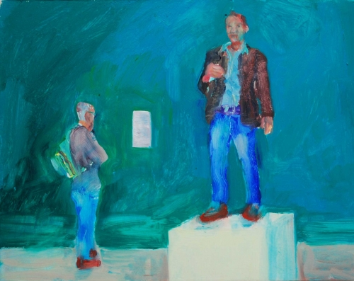 Sir Tim National Portrait Gallery by Michael Bartlett