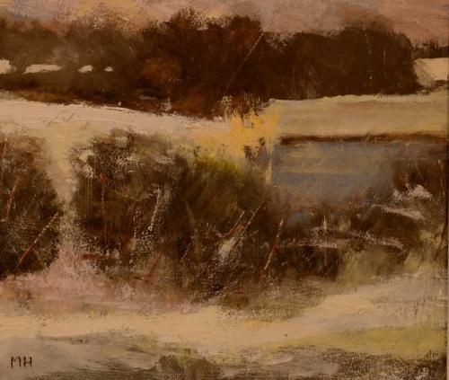 'Frozen Lake' oil painting by Michael Harrison