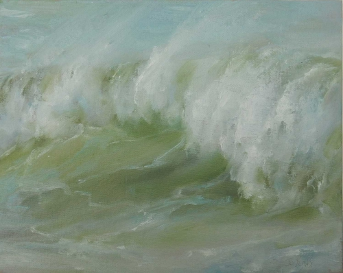 'Rearing Waves' oil painting by Jo Bemis