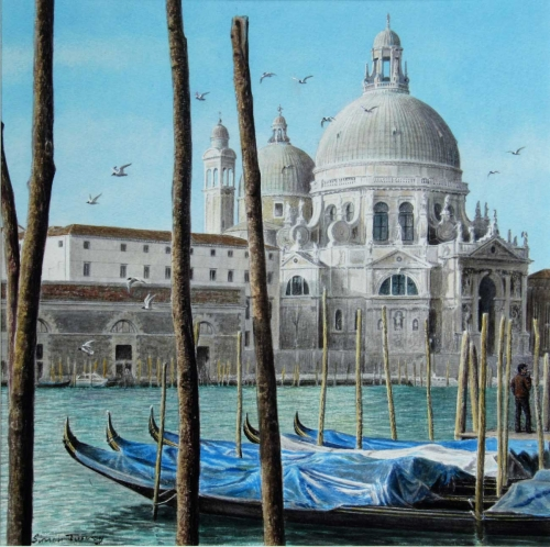 'Santa Maria della Salute' watercolour painting by Simon Turvey