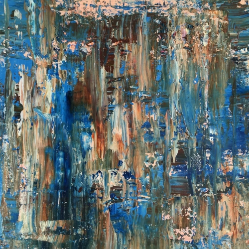 'Web' abstract oil painting by Peggy Cozzi