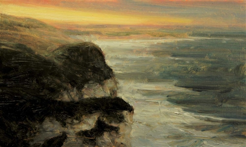 'Winter Sun, Whiterocks' oil painting by Kenny McKendry