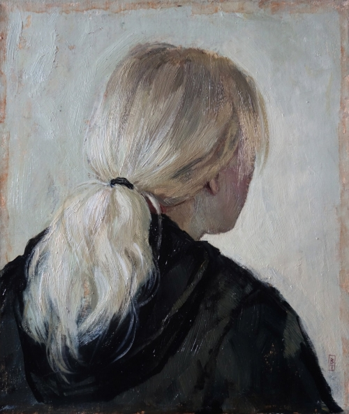 'Nora' oil painting by Bernadett Timko