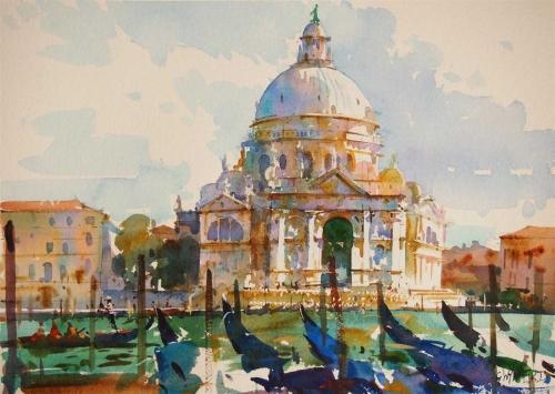 La Salute, Venice by Geoffrey Wynne