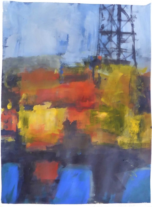 """Brent Delta III"" Acrylic on Paper by Rebecca Hathaway"
