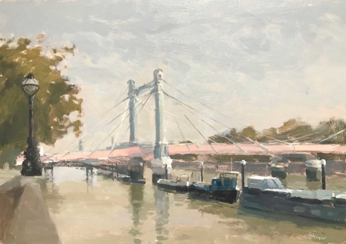 'Albert Bridge' oil painting by Clare Bowen