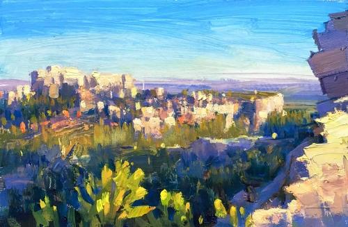'Le Baux de Provence' oil painting by Lucy Kent