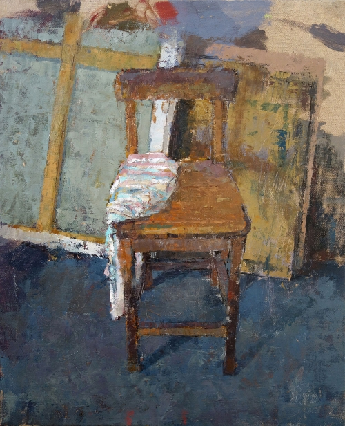 Bernadett Timko, Chair with Pillow Case