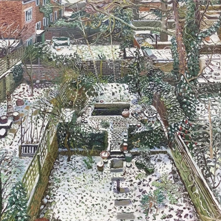 Scott-Miller-Melissa-Dusting-Of-Snow-On-An-Islington-Garden.jpg