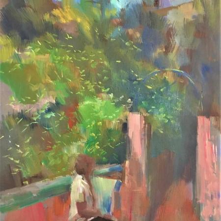 """""""Flowering Garden Funchal"""" Oil on Linen by Philip James"""